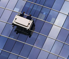 Window cleaning access platforms